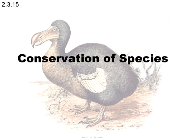 Preview of OCR Unit 2 Biology Conservation of Species