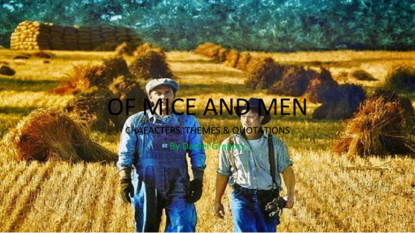 Preview of Of Mice and Men - Quotation Hunt