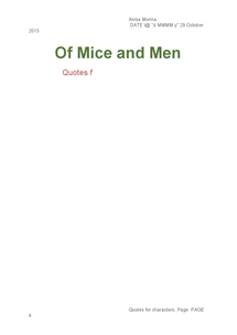 Preview of Of Mice and Men Quotes