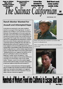 Preview of Of Mice and Men Example Newspaper
