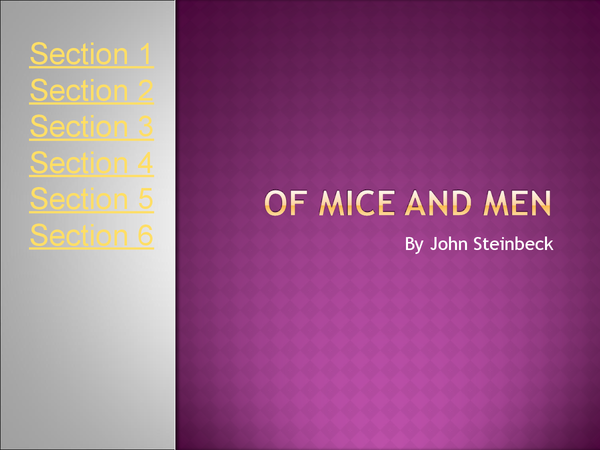 Preview of of mice and men summary powerpoint