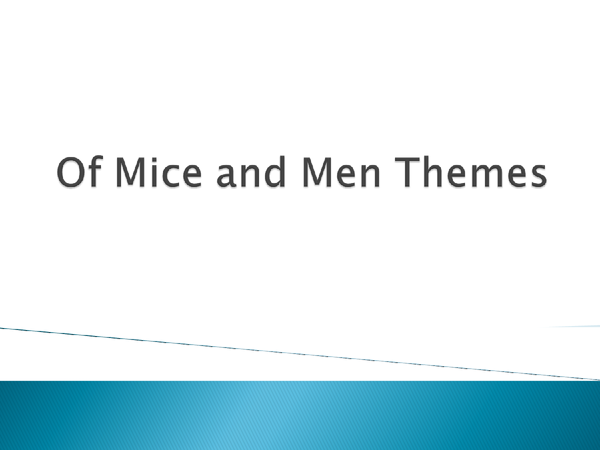 Preview of Of Mice and Men Themes and Quotes