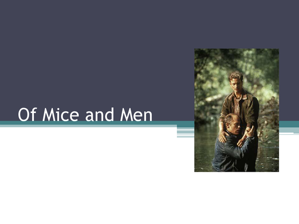 Preview of Of Mice and Men - TOTAL REVISION