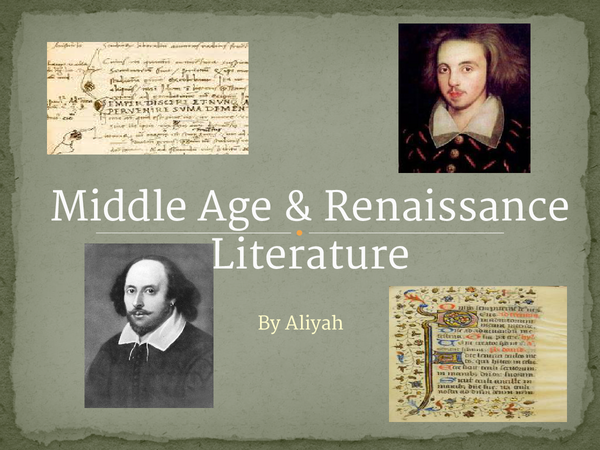 Preview of Old and Renaissance English Periods