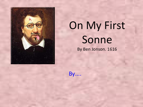 Preview of On My First Sonne - Ben Jhonson