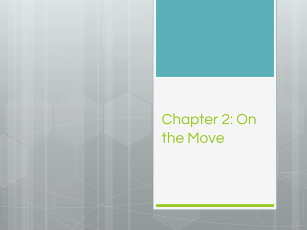Preview of On the Move