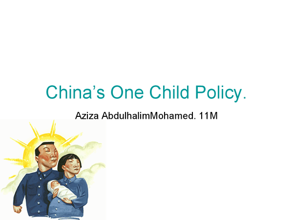 Preview of One Child Policy China