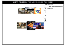 Preview of One Page Consolidated Revision Sheet - Religion and the Media