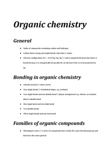 Preview of Organic Chemistry