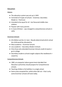 Preview of Organisation of the education system