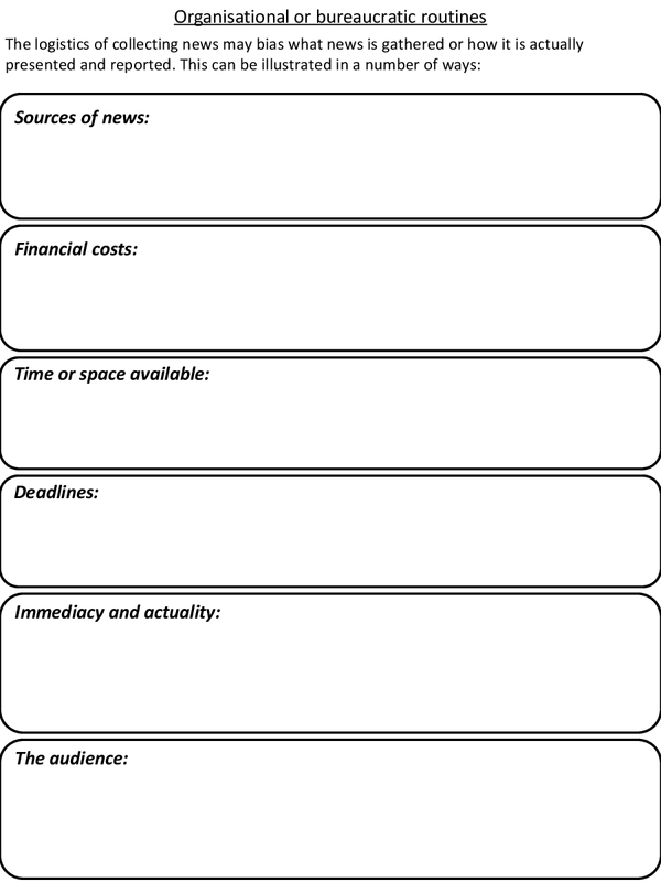 Preview of Organisational or bureaucratic routines