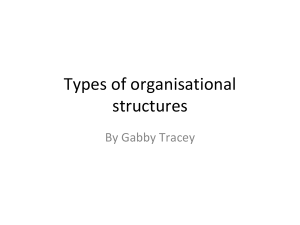 Preview of organisational structures