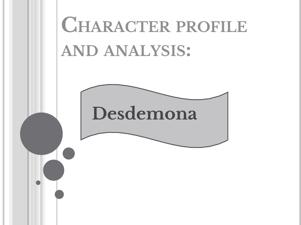 Preview of Othello - Desdeomna character and analysis