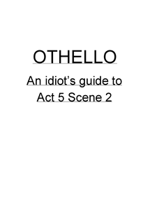 Preview of Othello- Act 5 Scene 2
