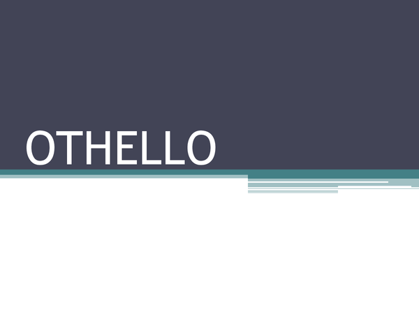 Preview of Othello context and background presentation