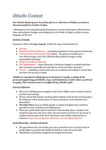 Preview of Othello Context Notes