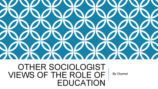 Preview of Other theories on the role of education
