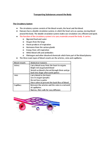 Preview of Outgoing Biology Unit 3 (Transporting Substances)