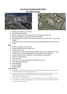Preview of Out of Town Retailing Case Study - The Trafford Centre