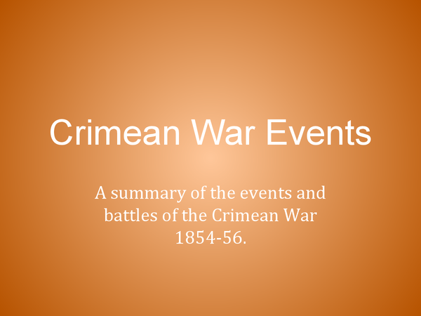 Preview of The Crimean War: Outbreak and Events