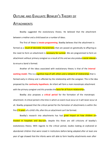 example about essay on attachment theory coursework and essay attachment theory essay team