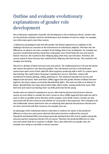 Preview of Outline and evaluate explanations of gender role development