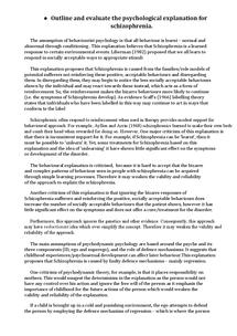 Psychology/Schizophrenia ISU term paper 3431