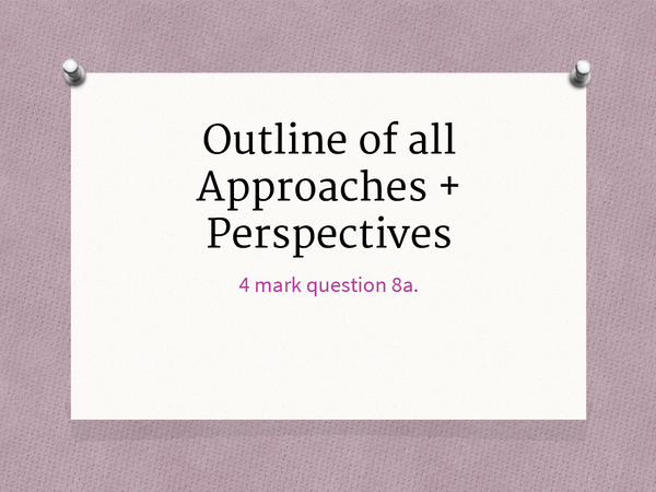 Preview of Outline of Approaches and Perspective G544
