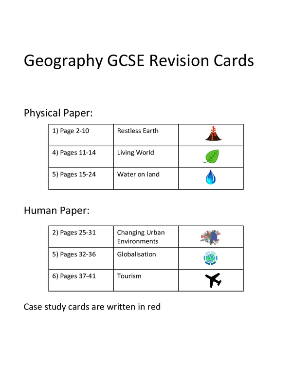 Preview of Over 200 Geography Revision Cards