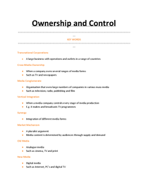 Preview of Ownership and Control - Topic 1