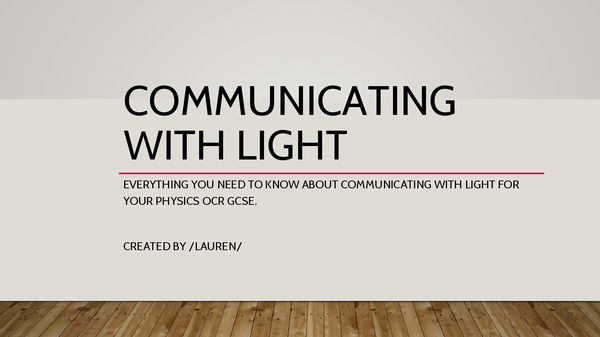 Preview of P1 - Communicating with Light