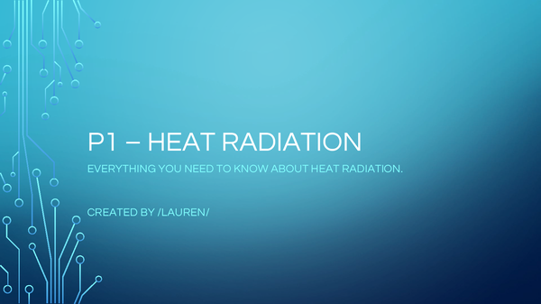 Preview of P1 - Heat Radiation
