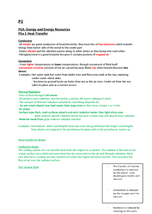 Preview of P1 A and P1 B AQA Physics GCSE Notes