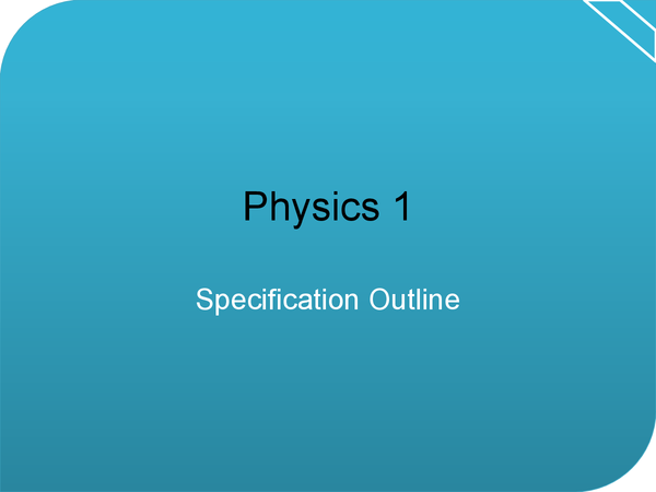 Preview of P1 Specification Outline