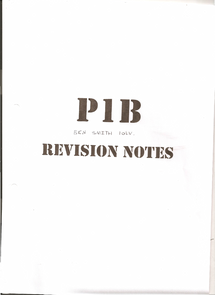 Preview of P1B revision notes