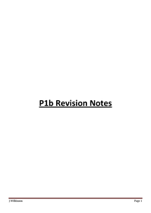 Preview of P1B REVISION NOTES FULL