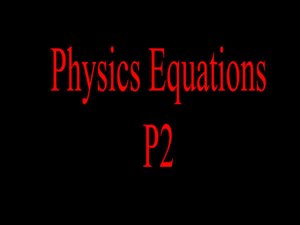 Preview of P2 equations