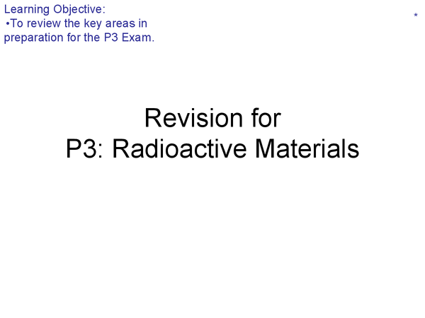 Preview of P3 - Radioactive materials