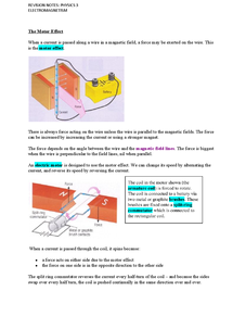 Preview of P3 Revision Notes:Electromagnetism