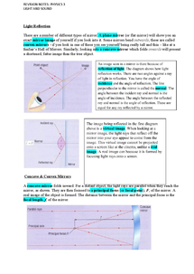 Preview of P3 Revision Notes:Light and Sound