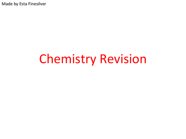 Preview of C3 Revison GCSE