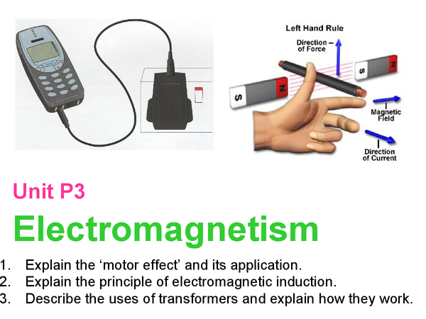 Preview of P3 Triple Science: Electromagnetism and Power Stations