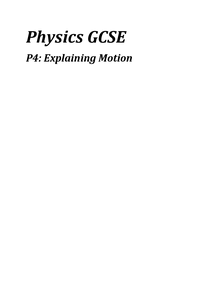 Preview of P4, Explaining Motion