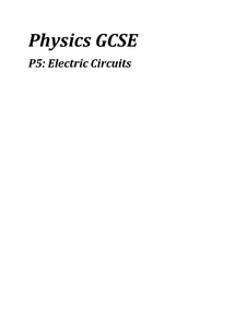 Preview of P5, Electric circuits