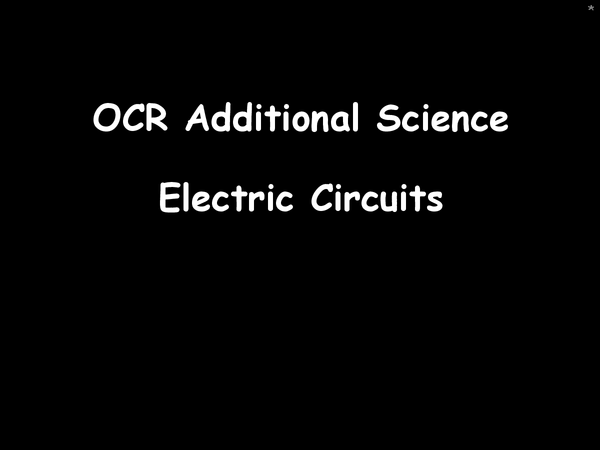 Preview of P5 - Electric circuits