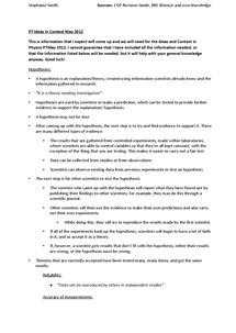 Preview of P7 (Physics) IDEAS IN CONTEXT, May 2012, GCSE