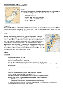 Preview of Pakistan Flood Case Study