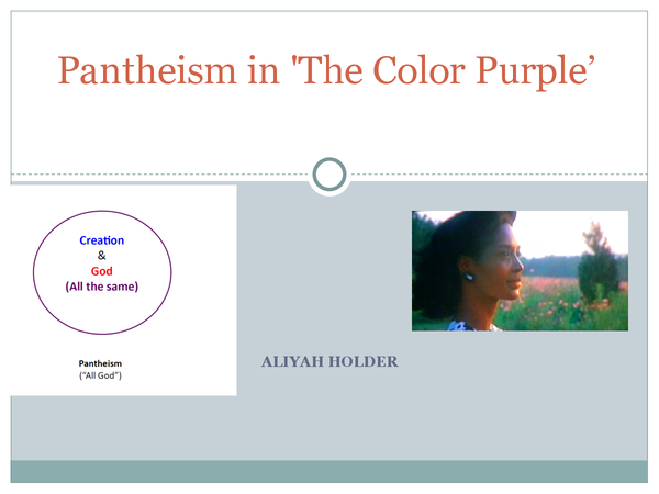 Preview of Pantheism in the Color Purple powerpoint