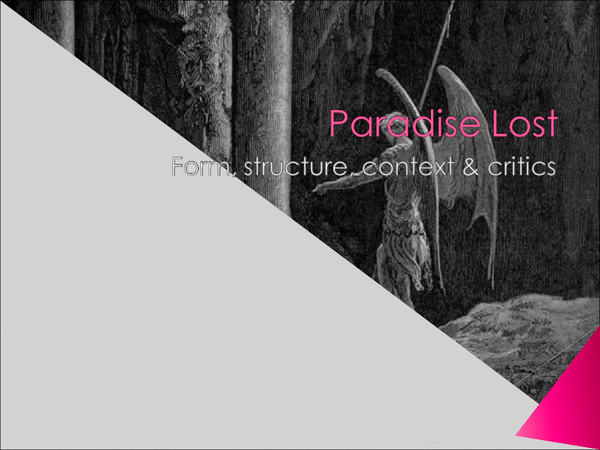 Preview of Paradise Lost - Notes