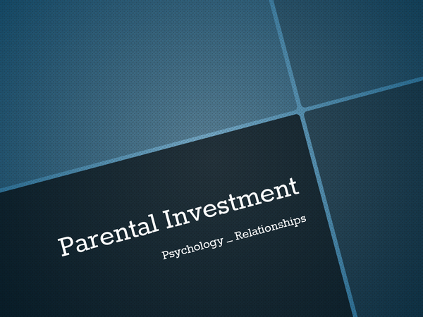 Preview of Parent Investment
